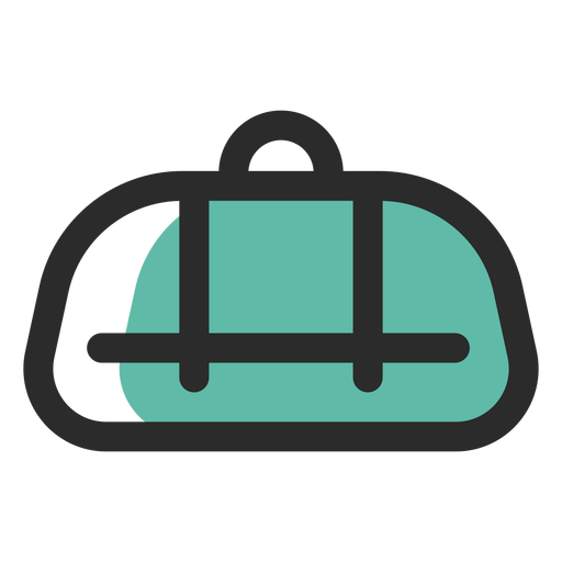 Duffel bag colored stroke icon Transparent PNG