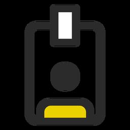 Icono de trazo de color de placa de empleado