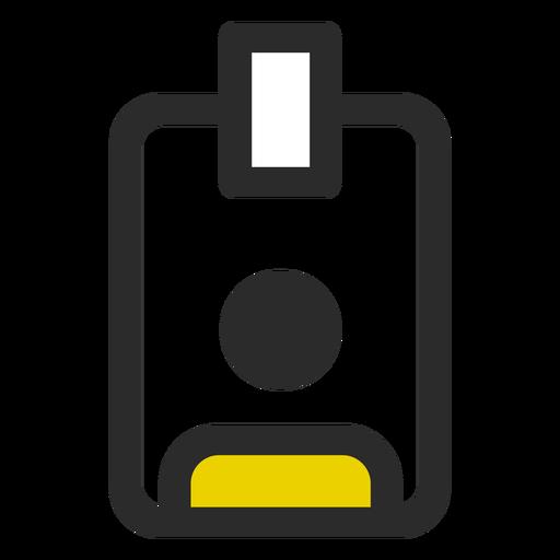 Icono de trazo de color de placa de empleado Transparent PNG
