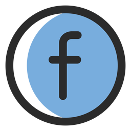 Facebook colored stroke icon