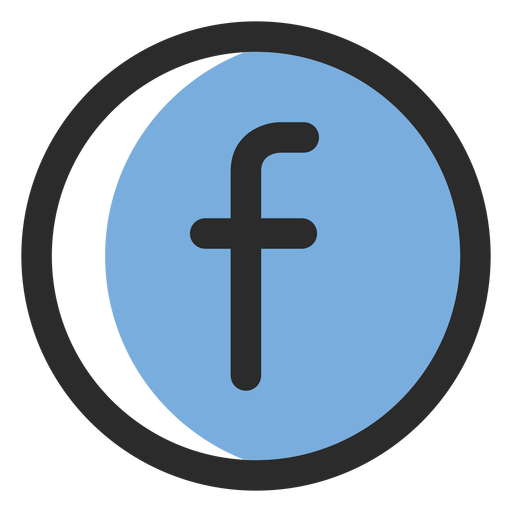 Facebook colored stroke icon Transparent PNG