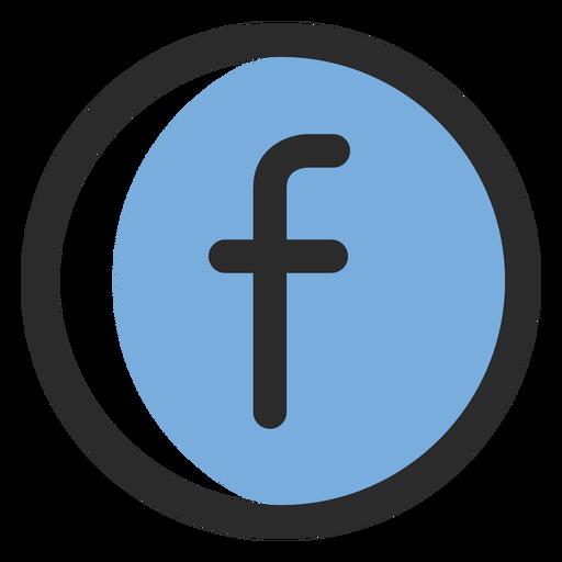 Facebook icono de trazo de color Transparent PNG