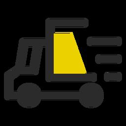 Icono de trazo de color de entrega rápida
