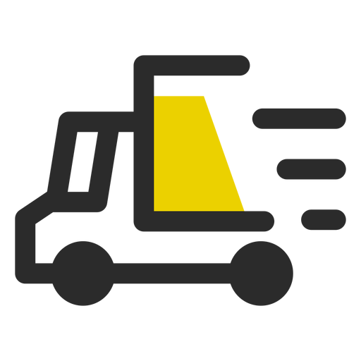 Fast delivery colored stroke icon Transparent PNG