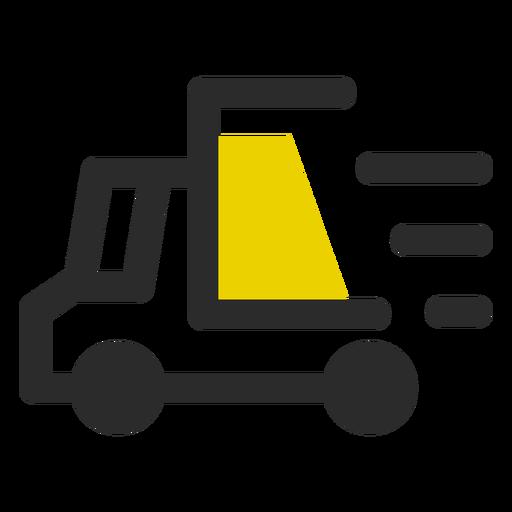 Ícone de traço colorido de entrega rápida Transparent PNG