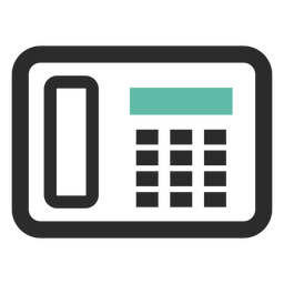 Fax teléfono icono de trazo de color