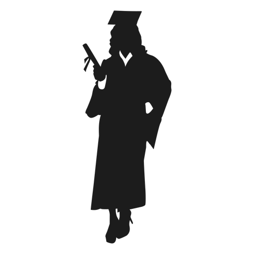 Silhueta de pós-graduação feminino Transparent PNG