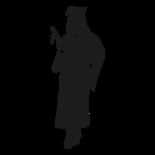 Silueta de mujer graduada