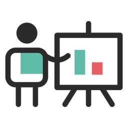 Financial presentation icon