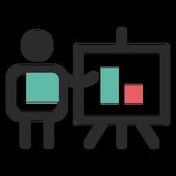 Ícone de apresentação financeira