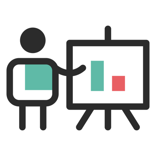 Ícone de apresentação financeira Transparent PNG