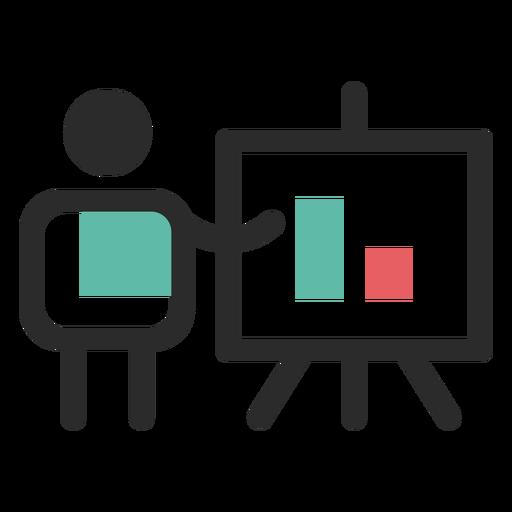 Financial presentation icon Transparent PNG