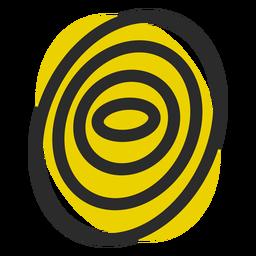 Icono de trazo de color de huella digital
