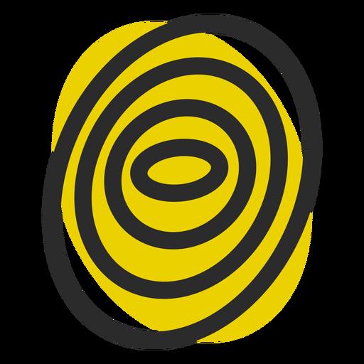 Icono de trazo de color de huella digital Transparent PNG