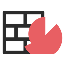 Firewall farbiges Strichsymbol