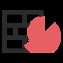 Ícone de traço colorido de firewall