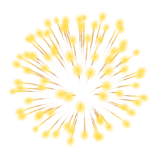 Icono de explosión de fuegos artificiales Transparent PNG