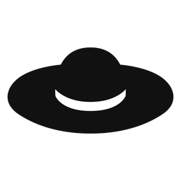 Floppy straw hat flat icon