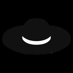Icono plano de sombrero de paja disquete