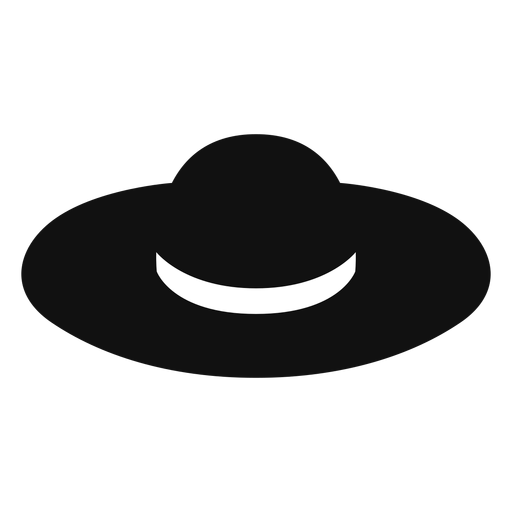 Floppy straw hat flat icon