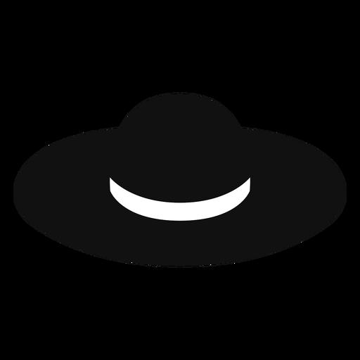 Ícone plano de chapéu de palha flexível
