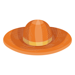 Floppy straw hat icon