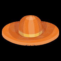 Icono de sombrero de paja flexible