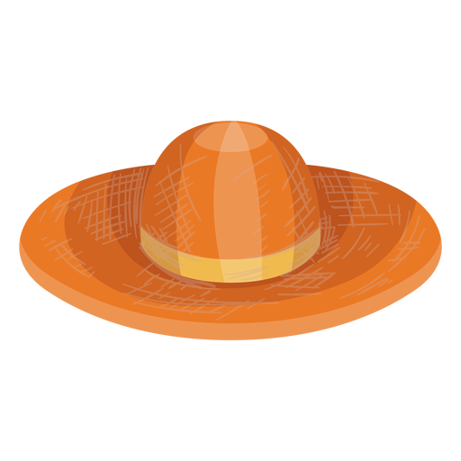 Floppy straw hat icon Transparent PNG