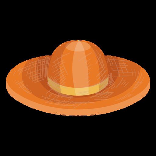 Icono de sombrero de paja disquete Transparent PNG