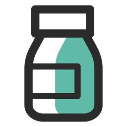 Food supplement colored stroke icon
