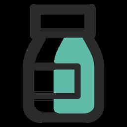 Nahrungsergänzungsmittel farbige Strich-Symbol