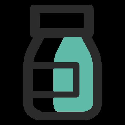Ícone de traço colorido de suplemento alimentar Transparent PNG