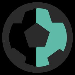 Balón de fútbol coloreado icono de trazo