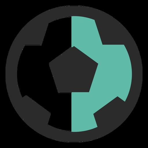 Balón de fútbol coloreado icono de trazo Transparent PNG