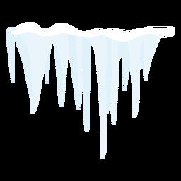 Icono de carámbano congelado