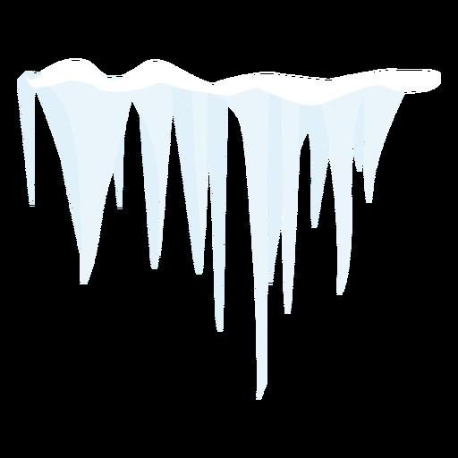 Ícone de sincelo congelado Transparent PNG