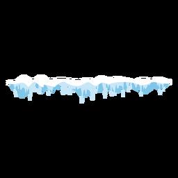 Icono de tapa de carámbanos congelados