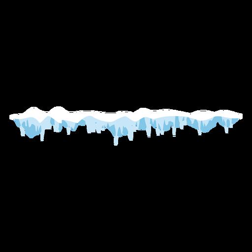 Frozen icicles cap icon Transparent PNG