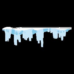 Icono de carámbanos congelados