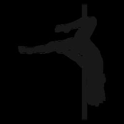 Silueta de géminis pole dance