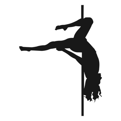 Gemini pole dance silhouette Transparent PNG