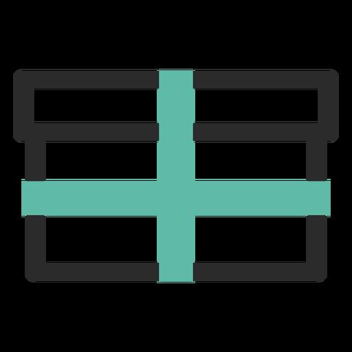 Ícone de traço colorido de caixa de presente Transparent PNG
