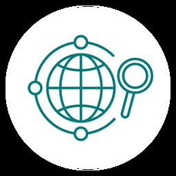 Ícone de traçado de pesquisa global