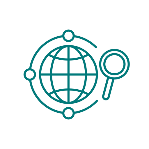 Global search stroke icon Transparent PNG