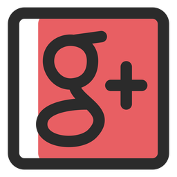 Google más el icono de trazo de color