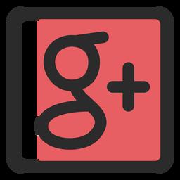 Google plus farbiges Strichsymbol