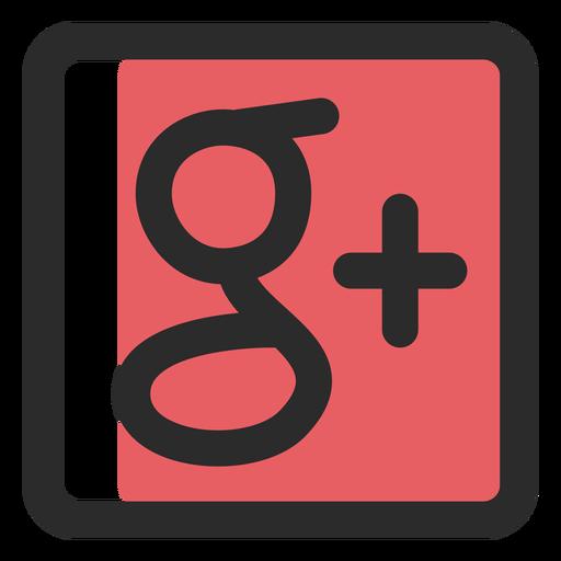 Google mais ícone de traço colorido Transparent PNG