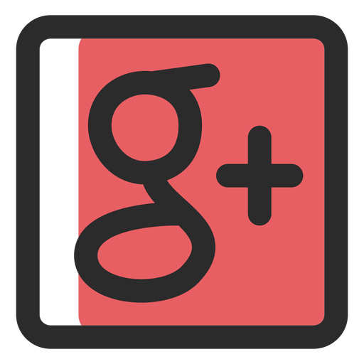 Google plus colored stroke icon Transparent PNG