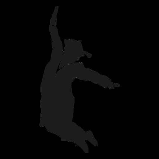 Silhueta de salto de graduação Transparent PNG