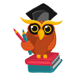 Ilustração de coruja de pós-graduação